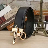 One-nice™ GIVENCHY Woman Fashion Smooth Buckle Belt Leather Belt H-A-GFPDPF