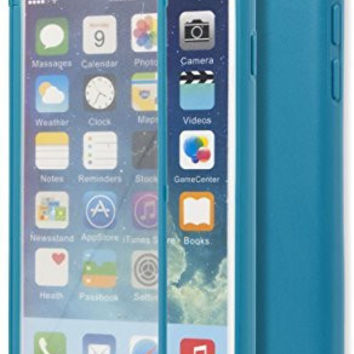 "iPhone 6, 4.7"" Neon Blue TPU Wrap Up Case with Built In Screen Protector"