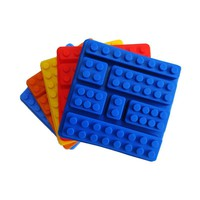 Silicone Lego Brick Style Square Ice Mold Chocolate Mold Cake Jello Mold Building Blocks Ice Tray DIY Children Cake Mold D0027-2