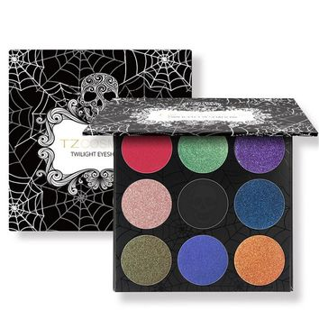 Skull 9 Color Eyes Eye Shadow Gift