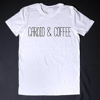 Cardio & Coffee Workout Top Funny T-shirt Mens Shirt Womens Shirt Fitness Shirt Running T-Shirt