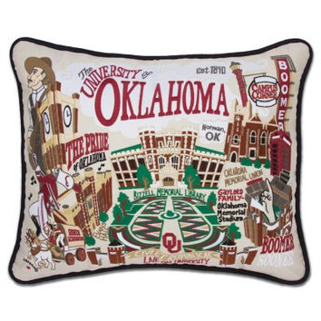 University of Oklahoma Embroidered Pillow