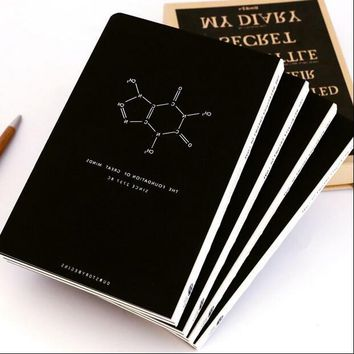 """Magical Science"" Journal Diary Hard Cover Blank Papers Notebook School Study Travel Notepad"