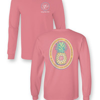 Sassy Frass Stand Tall Wear a Crown Pineapple Comfort Colors Girlie Bright Long Sleeve T Shirt