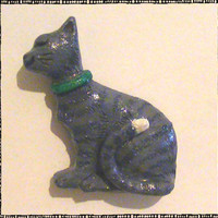 Old Country Cat Polymer Magnet
