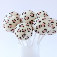 Leopard Print Cake Pops from The Cake Pop Company