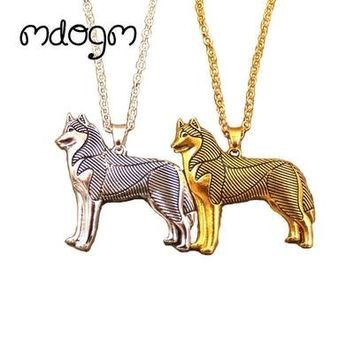 New Cute Husky Necklace Dog Animal Pendant
