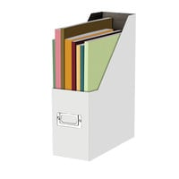 Snap N Store 50percent Recycled Magazine File Letter Size White by Office Depot