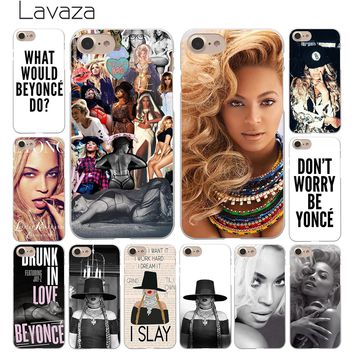 Lavaza Beyonce Giselle Knowles Hard White Coque Shell Phone Case for Apple iPhone 8 7 6 6S Plus 5 5S SE 5C 4S X 10 Cove