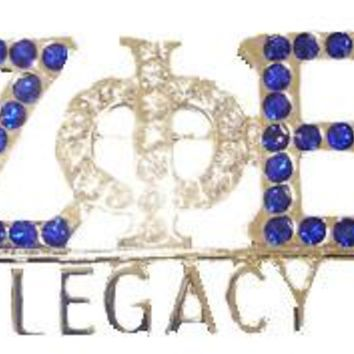 5pcs 1 lot  greek letters rhinestone ZETA PHI BETA Sorority  ZPB LEGACY crystal   Lapel Pin brooch