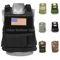 FBI Police SWAT Vest Military Molle Combat Strike Plate Carrier Vests Paintball Body Armor Hunting Training Tactical Vest