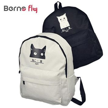 2017 Hot Cute Animal Printed Rucksack Laptop Lesuire Travel Bag Campus Female Girls Women Backpack Teenager Canvas Bags