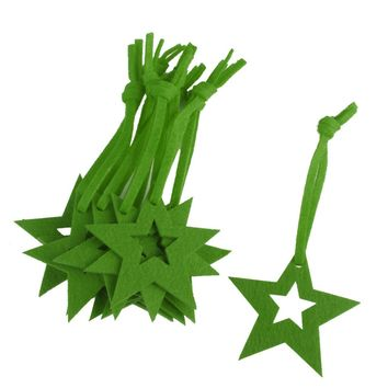 10 x Five-pointed Star Felt Christmas Trees Ornament Decorative Hanger Craft