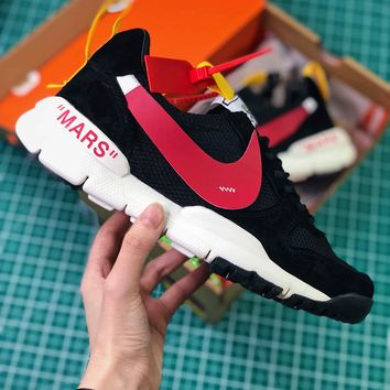 Off White X Tom Sachs X Nikecraft Mars Yar 2.0 Black Red Sport Running Shoes - Best Online Sale