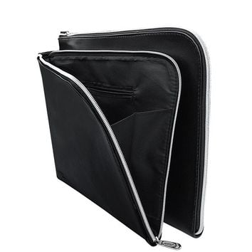 A4 PU Leather Folder A4 Paper Holder Office File Folders Leather-Folder-For-Papers Documents Bag Documentation Organizer Carpeta