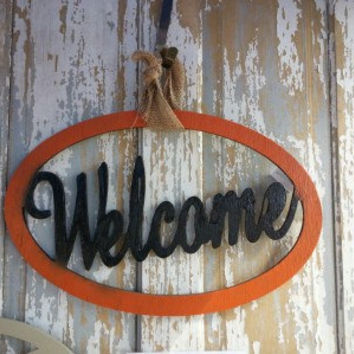 "18"" Welcome Wooden Decor - Sign - Wall Hanger - Door Hanger - Unfinished Wood - Welcome Sign"