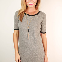 Old School Tee Shirt Dress in Grey