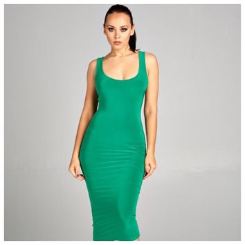 Smooth Operator Bodycon Dress Kelly Green