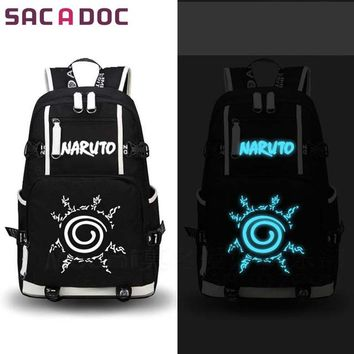 Japanese Anime Bag  Naruto Printing Backpack Uchiha Sasuke Sharingan Luminous School Bag For Teens Girls Boys Cartoon Travel Backpack AT_59_4