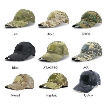 High Quality Jungle Camo Bionic Combat Snapback Hats Hiking Cap Tactical Adjustable sport tactical cap for men women