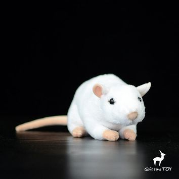 White Mouse Stuffed Animal Plush Toy 7""