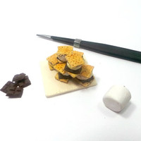 6x 1:12 Scale Miniature Double Chocolate S'mores