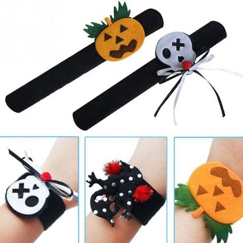 2pcs/lot Carnival Halloween Bracelet Pops Ring wrist Stage Performance Pumpkin Ghost Cosplay party accessory