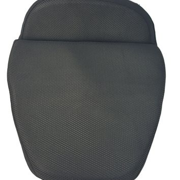 Motorcycle Seat Gel Pad cushion with Memory Foam black for Driver Seat