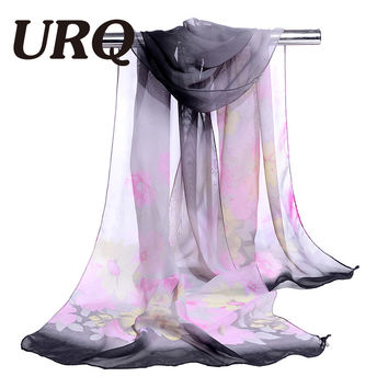 chiffon scarf print small flower women's scarf muslim spring and autumn women's summer patterns cape shwal wrap 2017 hot