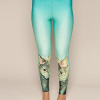 Cat Stare Leggings, DROP DEAD