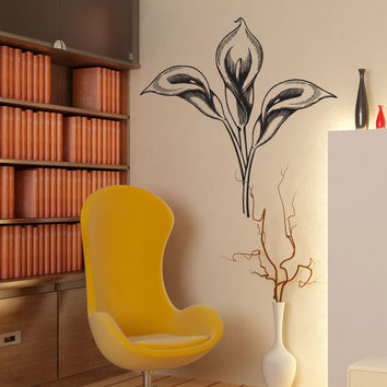 Vinyl Wall Decal Sticker Calla Lilies #1073