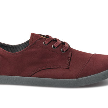 TOMS Burgundy Canvas Men's Paseos Red 13