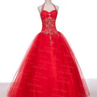 A-line Sweetheart Ball Gown Prom Dress/Evening Dress/Red Dress/Party Dress