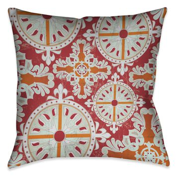 Medieval Persimmon I Indoor Decorative Pillow