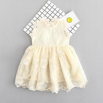Girls Dress Summer 2017 Lace Kids Dresses For Girl Baby Children Princess Clothes Wedding Party Child Costume Robe Fille Enfant