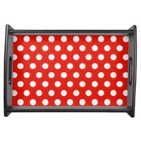 Red White Polka Dots - Serving Tray