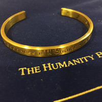 Humanity Bracelet To Be Loved Unisex Metal Engraved Cuff Bracelet