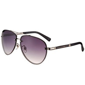Dolce and Gabbana Pilot Silver Frame Sunglasses 308196