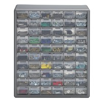 Stack-On 60-Compartment Gray Storage Cabinet for Small Parts Organizer-DS-60 - The Home Depot