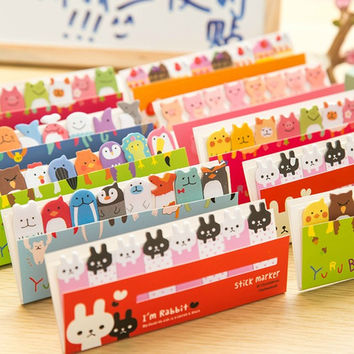 Cute Mini Memo Pad Sticky animal Note Paper Scrapbooking Sticker Pads Creative Korean Stationery Free shipping 242