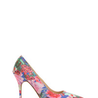 Floral Of The Story Pointy Heels