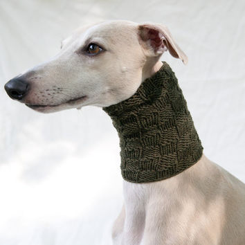 Snood for Whippets / Merino / Olive Green