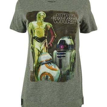 Star Wars Junior's Droids High-Low Screen Print Tee