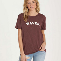 Billabong Women's Waves Tee | Mystic Maroon