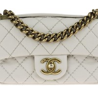 Chanel Mini Grey Handle Flap | Chanel Consignment | Designer Vault
