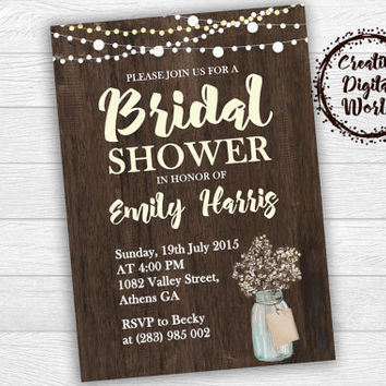 07c53c7e5f5 Shop Rustic Bridal Shower Invitations on Wanelo