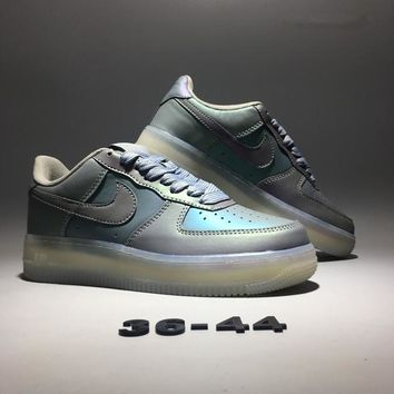"""""""Nike Air Force 1"""" Unisex Sport Casual Fashion Multicolor Chameleon Air Cushion Plate Shoes Couple Thick Bottom Sneakers"""