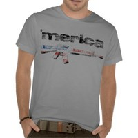 Merica Distressed Rifle Shirt from Zazzle.com