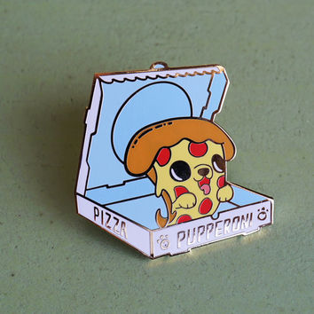 Pupperoni Hard Enamel Lapel Pin