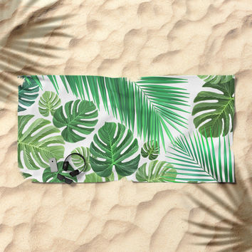 Jungle Fever Beach Towel by exobiology